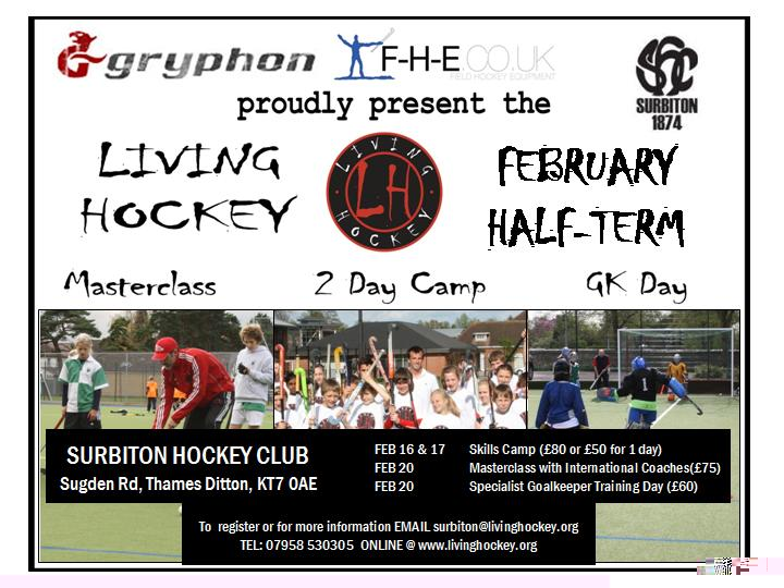 Living Hockey - Promotional Poster - Surbiton - Feb 15