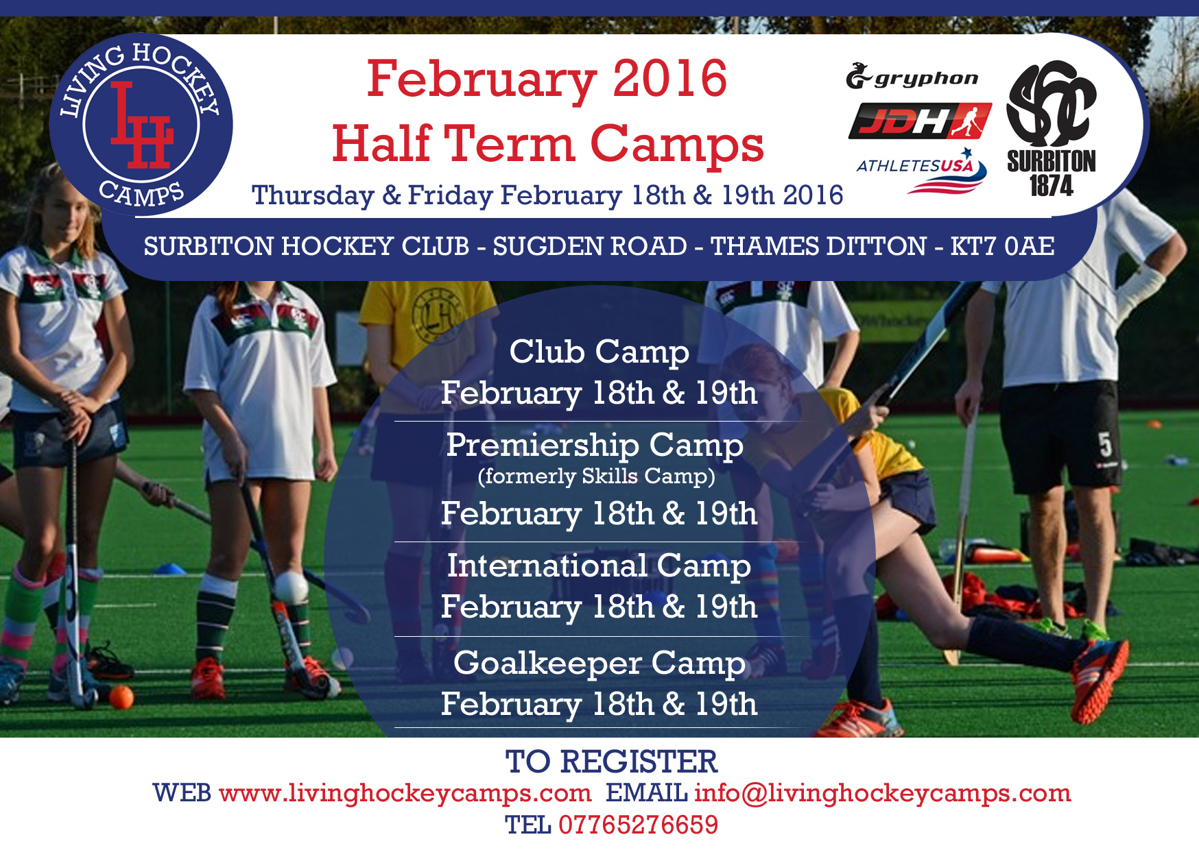 Living hockey half term camp